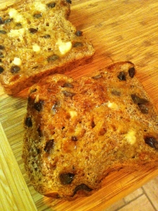 Ezekial 4:9 cinnamon raisin bread.  Toasted.  BUTTER.