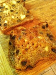 Ezekial 4:9 cinnamon raisin bread.  Toasted.  BUTTER.