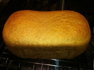 whole wheat bread right out of the baking pan