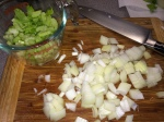 chopped onions and celery (obviously)