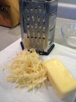 shredding the cheese (a good task for kids!)